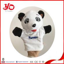 new soft plush panda hand puppet , panda hand puppets
