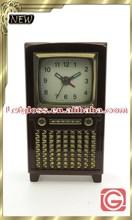 Customized zinc alloy Retro television alarm desk top Clock