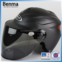 Wholesale motorcycle open face helmets with PC visor wear resisting