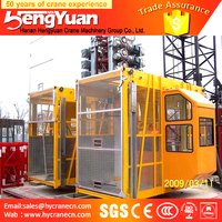 China Audited Residential Building Construction Hoist SC200/200