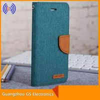 Original Mercury Goospery Canvas Diary Jeans Leather Flip Case For Huawei Ascend G700