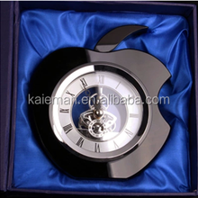 Customized Shape Crystal Clock For Wedding Decorations