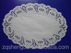 Original And New Designed White Oval Lace Flowers Paper Doilies for Wedding