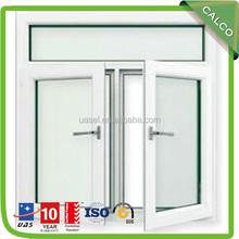 fashionable hot sale new style aluminum 3 panel triple pvc casement window