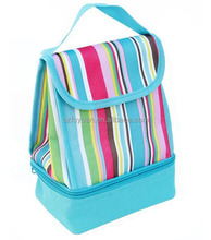 double layer insulated fitness lunch cooler bag