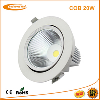 Shops, Stores, Galleries and similar commercial area lighting high power 20w home ceiling lamps 3 years warranty