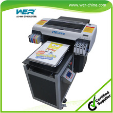 t-shirt printing machine prices with white ink, A2 size high resolution and strong adhesive