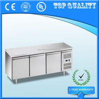 600mm Depth Stainless Steel Commercial Undercounter Refrigerator