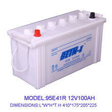 Manufacturing 12V100AH Dry Charged car battery Truck battery 95E41R