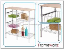 MDF board bathroom storage shelves / storage shelf using in bathroom