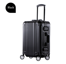 "2015 New Design 25"" Black Aluminium Trolley Suitcase, Travelling Luggage Suitcase"