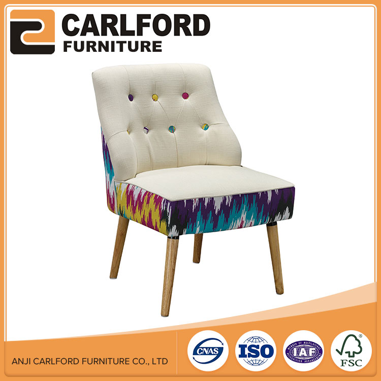 Venta caliente francés tela tapizada Sala silla bañera
