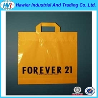 Biodegradable soft loop handle hdpe/ldpe plastic gift bag