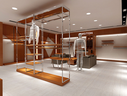 China professional modern garment cabinets manufacture display cabinets and showcases furniture