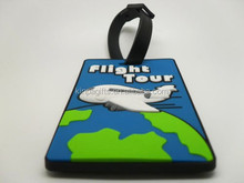 Custom Logo Soft Plastic Travel 3D Airplane Luggage Tag