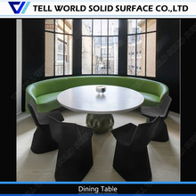 Beautiful leaf shaped solid surface dinning dinning surface table food table
