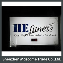 The display of the time on the backboard, high brightness led light box