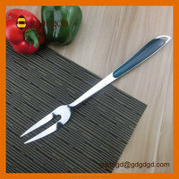 Food Grade Colorful Long Handle Stainless Steel Meat Fork