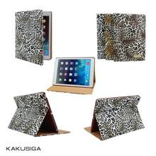 KAKU professional hot selling leather cover for mini ipad leopard case