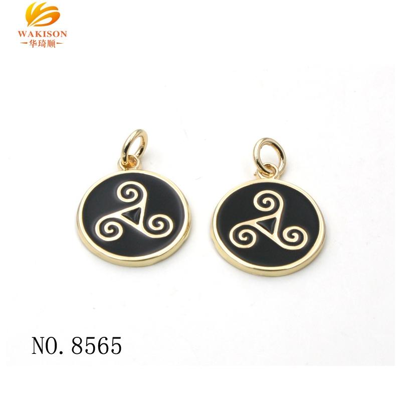 Nuovo portachiavi decorazione parti personalizzato epossidica logo del marchio della catena chiave coin tag