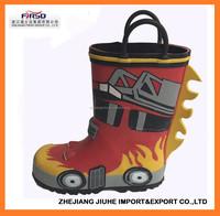 3D Design Kids Children Rubber Rain Boots For Boy