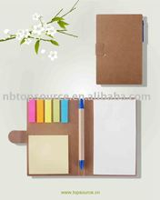 Recycled notepad with ballpen (promotional notebook)