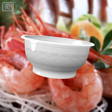 D360-PB PP 12oz 360ml white plastic bowl - microwave disposable container