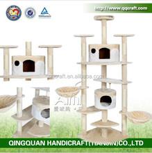 QQPET Factory Wholesale Sisal Cat Tree House Cat Climbing Tree Cat House