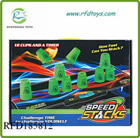 Family games plastic make speed stacking cups play set