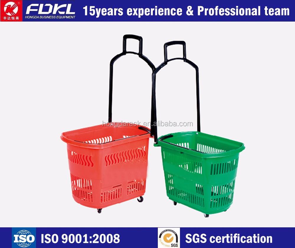 Fournir proffessional ISO, SGS certifié panier avec quatre roues