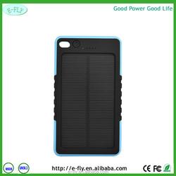 High Quality 8000 mAh Safe Li-polymer Dual USB Port Portable Outdoor Solar Charger Power Bank Waterproof Shockproof Dustproof