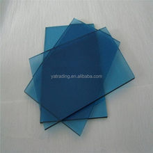 Modern promotional tinted blue float glass