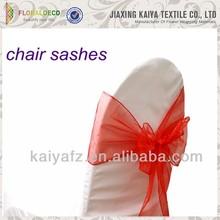 Wholesale organza wedding and banquet blush chair sashes