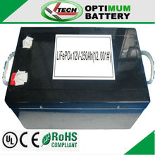 12v 250ah rechargeable lithium ion batteries