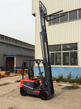 model CPD15 battery forklift used as earth-moving machine, good for your shop