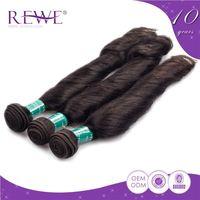 Customized No Shedding Virgin Weave Human Hair Extension Quickie Fringe Bangs