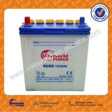 Chinese cheap price good quality 38B20R NS40Z 12v 36ah all kinds of jis standard dry charged automotive battery