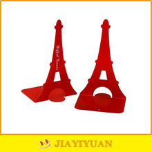 1 pair creative eiffel tower bookends metal nonskid book stands