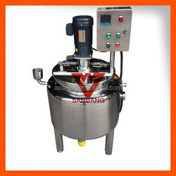 Varnish Coil heating sanitary electric heating jacketed mixing tank from Henan sanbang