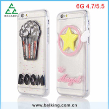 Ice crean bling TPU case for iphone 6, for iphone 6 star bling back cover, TPU soft case for iphone 6