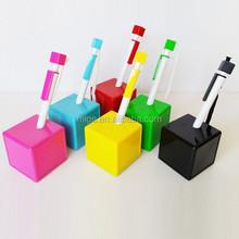 High Quality Wholesale Customized Desk Stand Pen Advertising Slogan Pen (PE013)