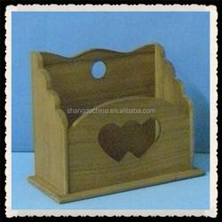 Factory handmade decorative wooden office file rack wholesale