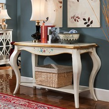 Kam wood furniture solid wood American porch The table against the wall porch ark vestibular ark of coloured drawing or pattern