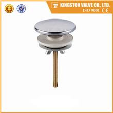 K621 Yuhuan supplier brass pop-up drain strainer polished and chrome plated brass sanitary accessories