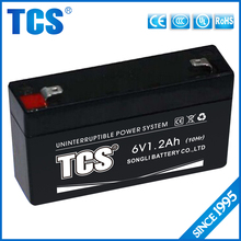 2016 TCS XIAMEN exide ups batteries 6v1.2ah rechargeable sealed lead acid battery solar panel battery