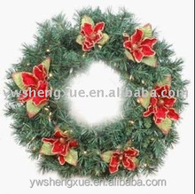Artificial wreaths with red flower