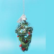 hand blown glass craft ,christmas decoration deal apple