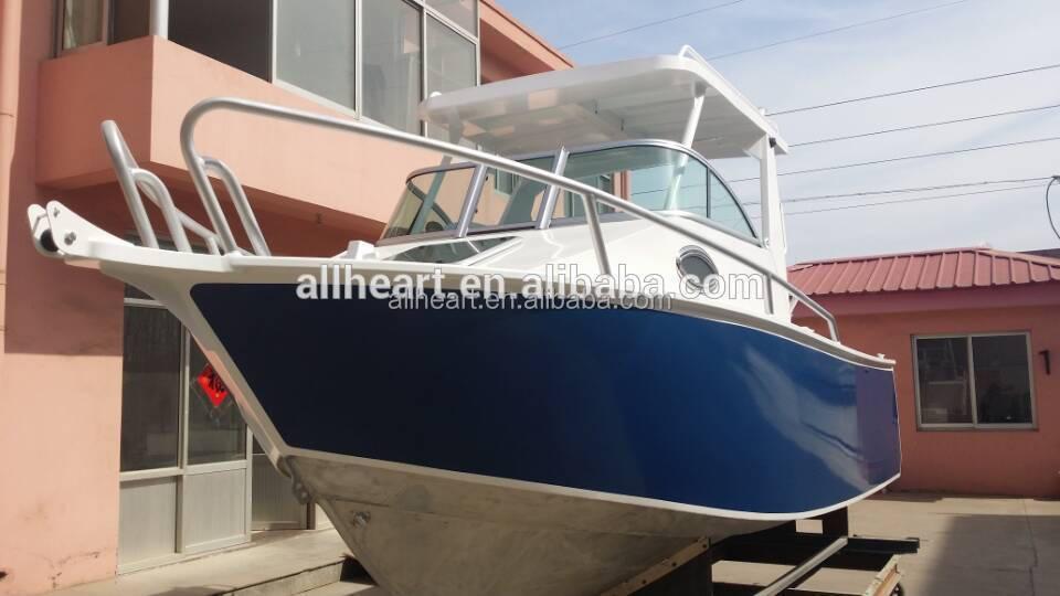 Aluminum cabin boat hot sale 4 8m fishing boat buy cabin for Aluminum boat with cabin for sale