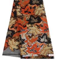2015 Newest orange Maple Leaf shape african lace/swissfabric for wedding or party