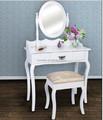 moderno de madera espejo plegable mesa de tocador conjunto